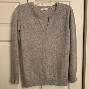 Rebecca Taylor Cashmere Grey Sweater